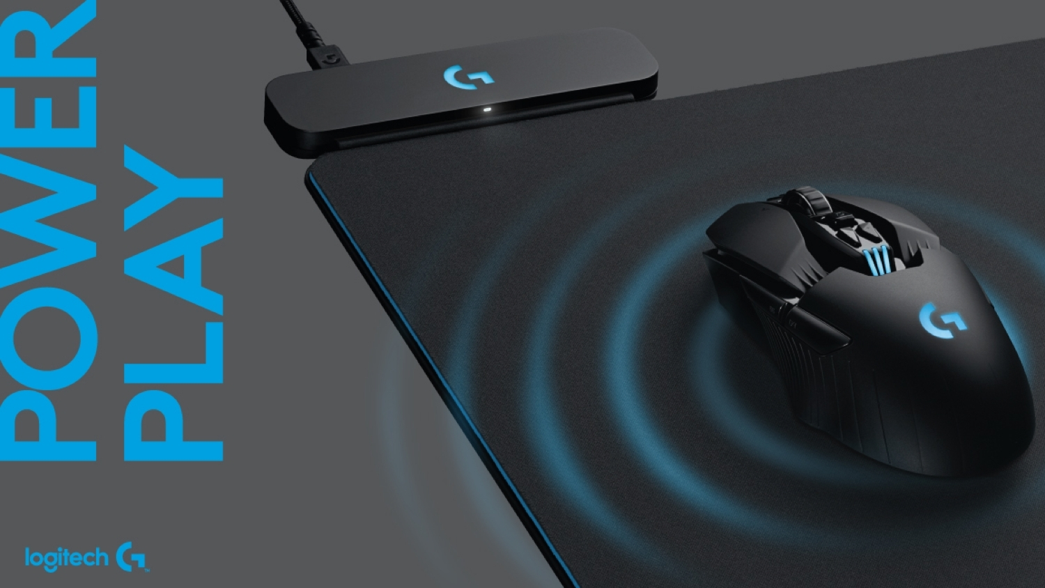 Logitech's PowerPlay mat wirelessly charges a mouse while you use it