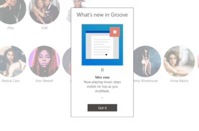 Groove Music is getting a new mini-player in Windows 10 24