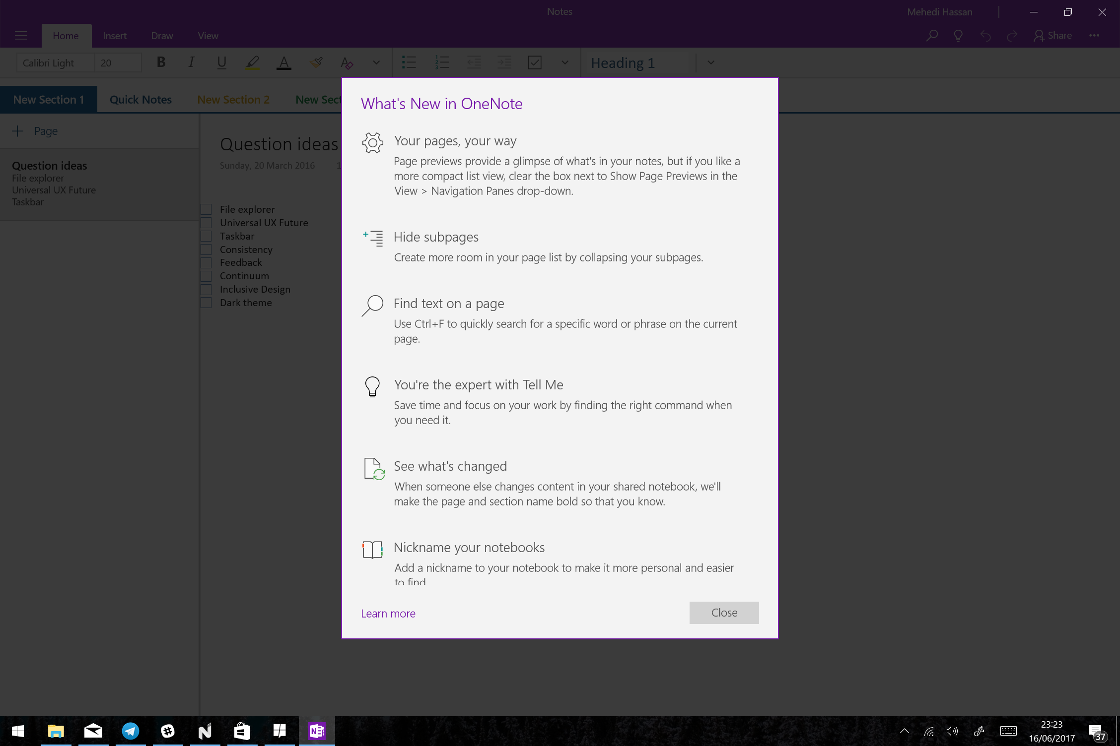 OneNote's redesigned Windows 10 app heads to all users