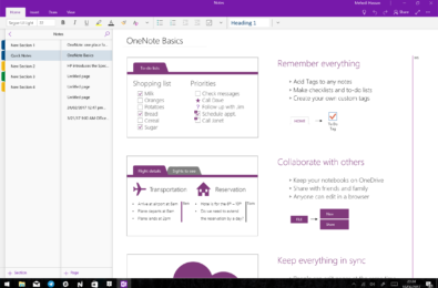 OneNote's redesigned Windows 10 app heads to all users 18