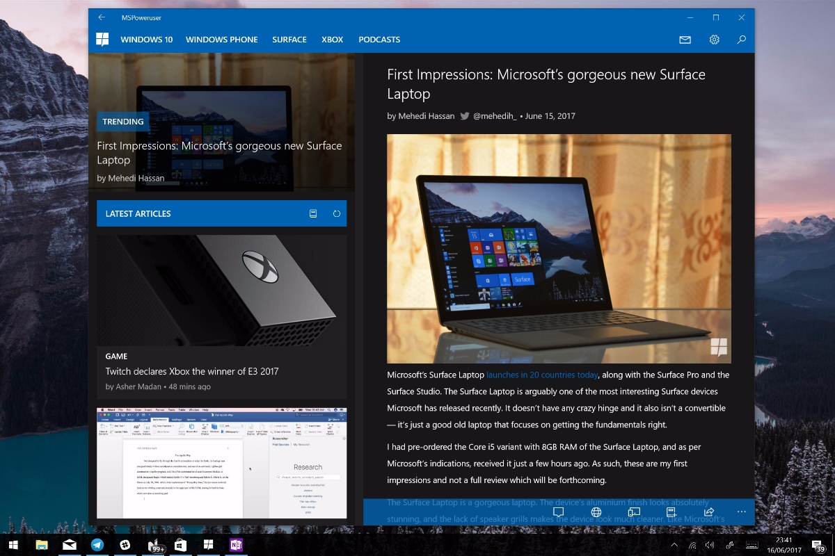 MSPU's Windows 10 app updated with performance boosting