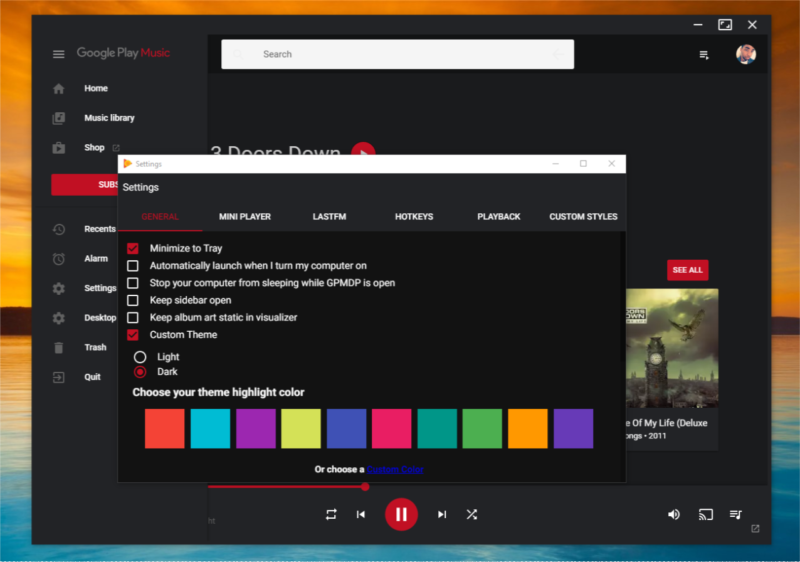 The elegant Google Play Desktop Music client is now in the