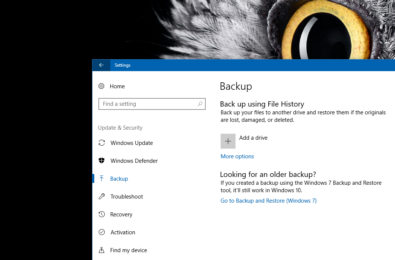 Windows 10's File History backup system isn't going to die after all 1
