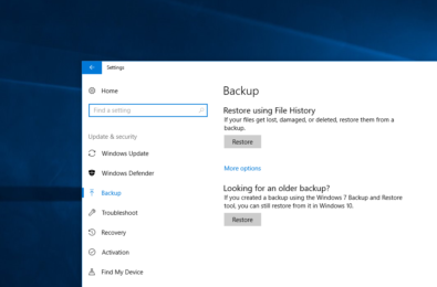 Windows 10's 'File History' backup system will likely be killed with the Fall Creators Update 3