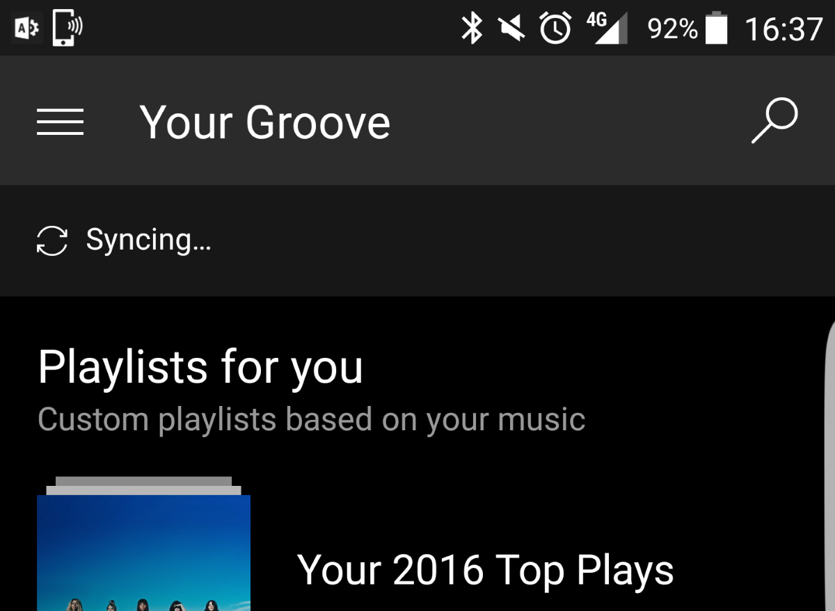 Microsoft's latest Groove Music for Android update extends