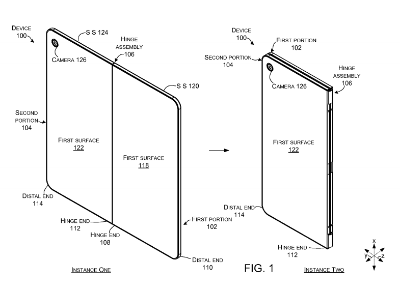 "New ""hinged foldable tablet"" patents from Microsoft gives us a better look at the device 1"
