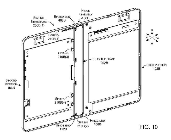 "New ""hinged foldable tablet"" patents from Microsoft gives us a better look at the device 3"