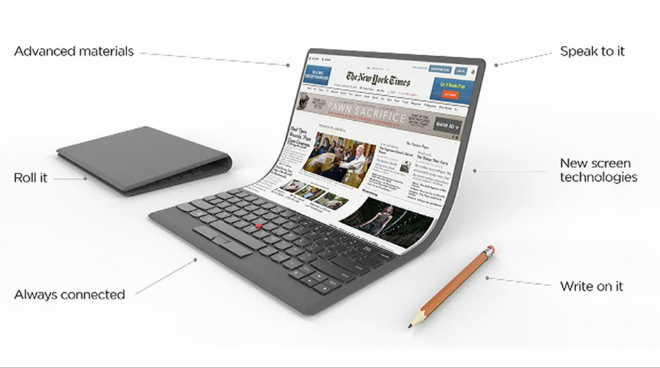 Lenovo foldable PC concept unveiled