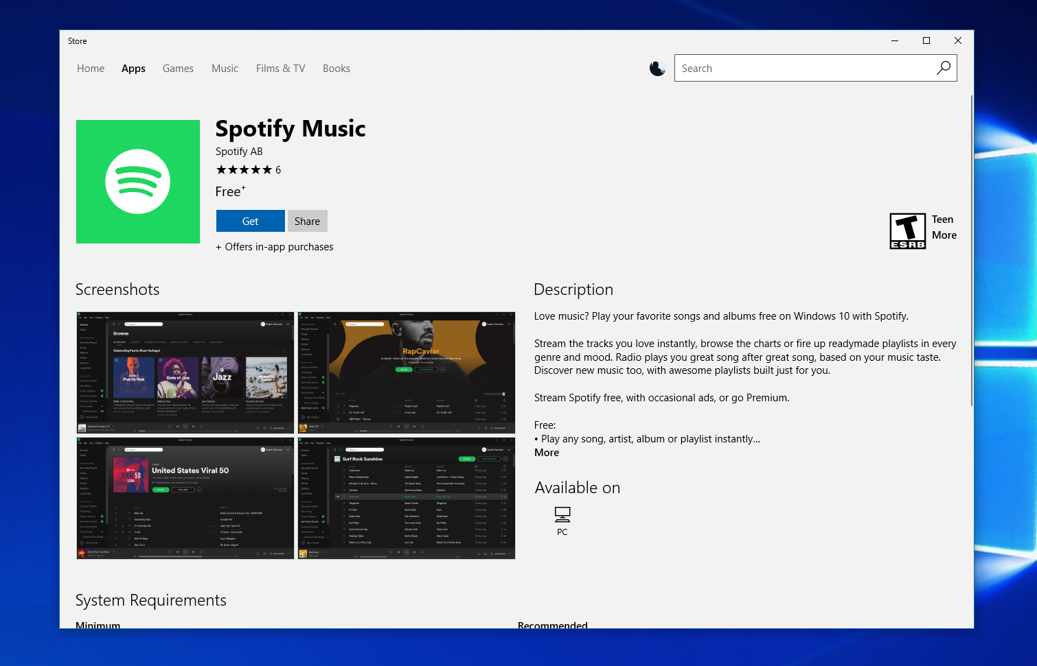 Spotify is Now Available on the Windows Store
