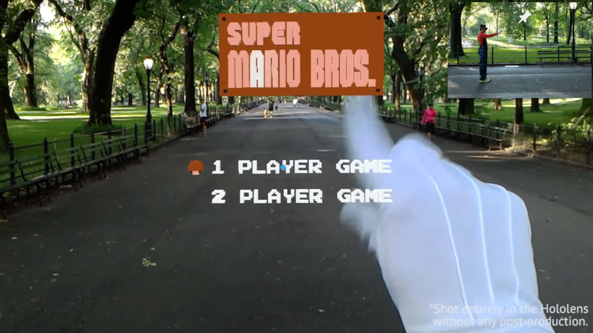 Super Mario Bros. Level Recreated In AR By HoloLens Developer