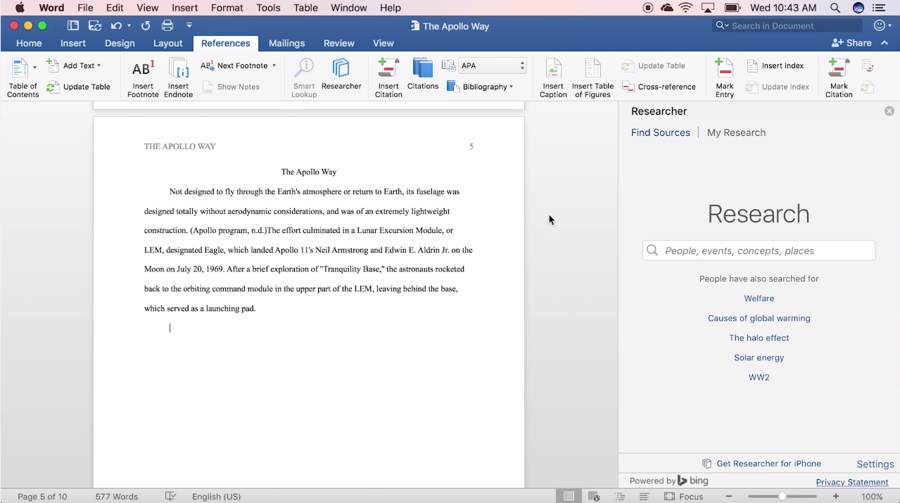 Microsoft words researcher comes to the mac mspoweruser microsoft is bringing words researcher feature to the mac the feature today arrived for office insiders in the fast ring and itll be rolled out to all spiritdancerdesigns Images
