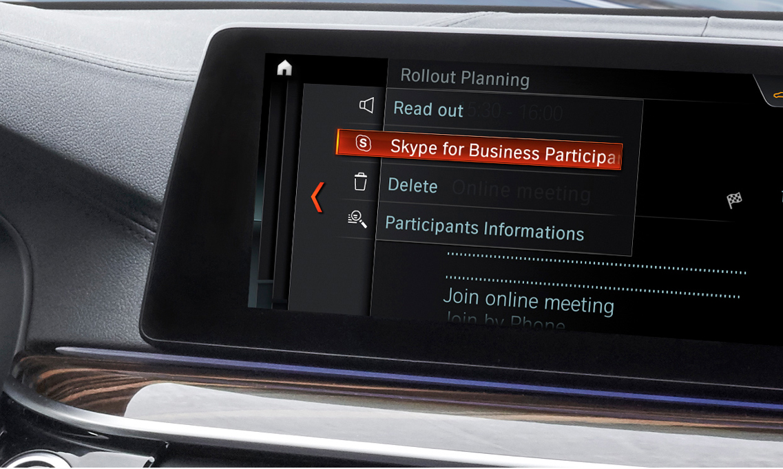 Microsoft and BMW are bringing Skype for Business to 5 Series cars