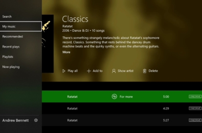 Groove Music's Xbox One version gets Acrylic in its latest update 3
