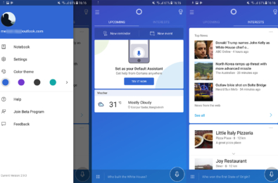 Cortana gets another incremental makeover on Android 15