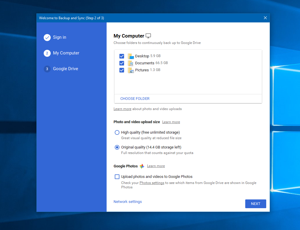 Google invades Microsoft's turf with their new Backup and Sync app for Windows 2
