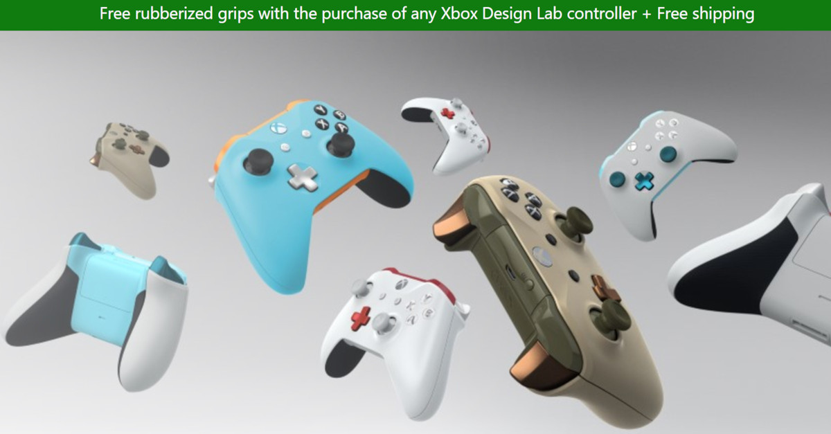 Deal: Get free rubberized grips when you buy any Xbox Design Lab
