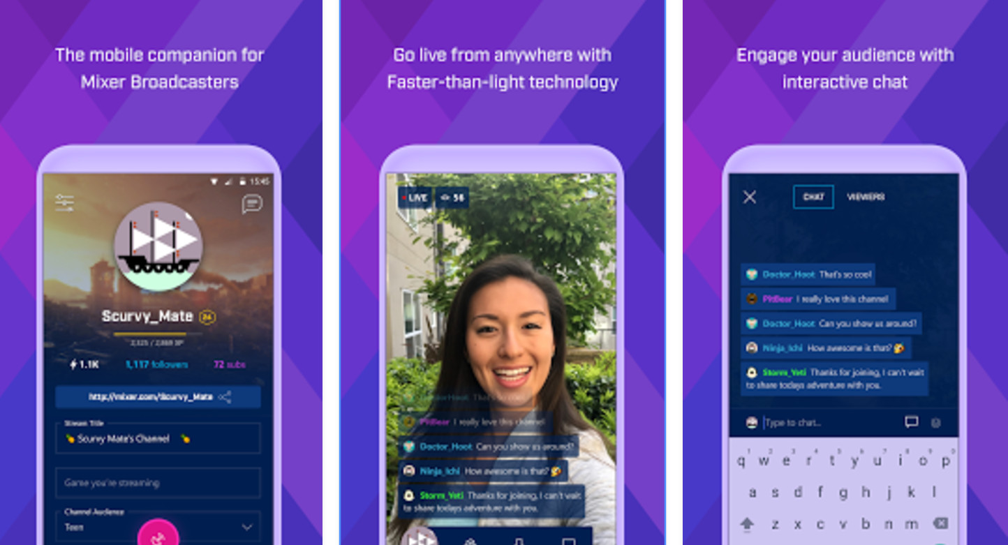 Microsoft's Mixer game streaming app now also available on