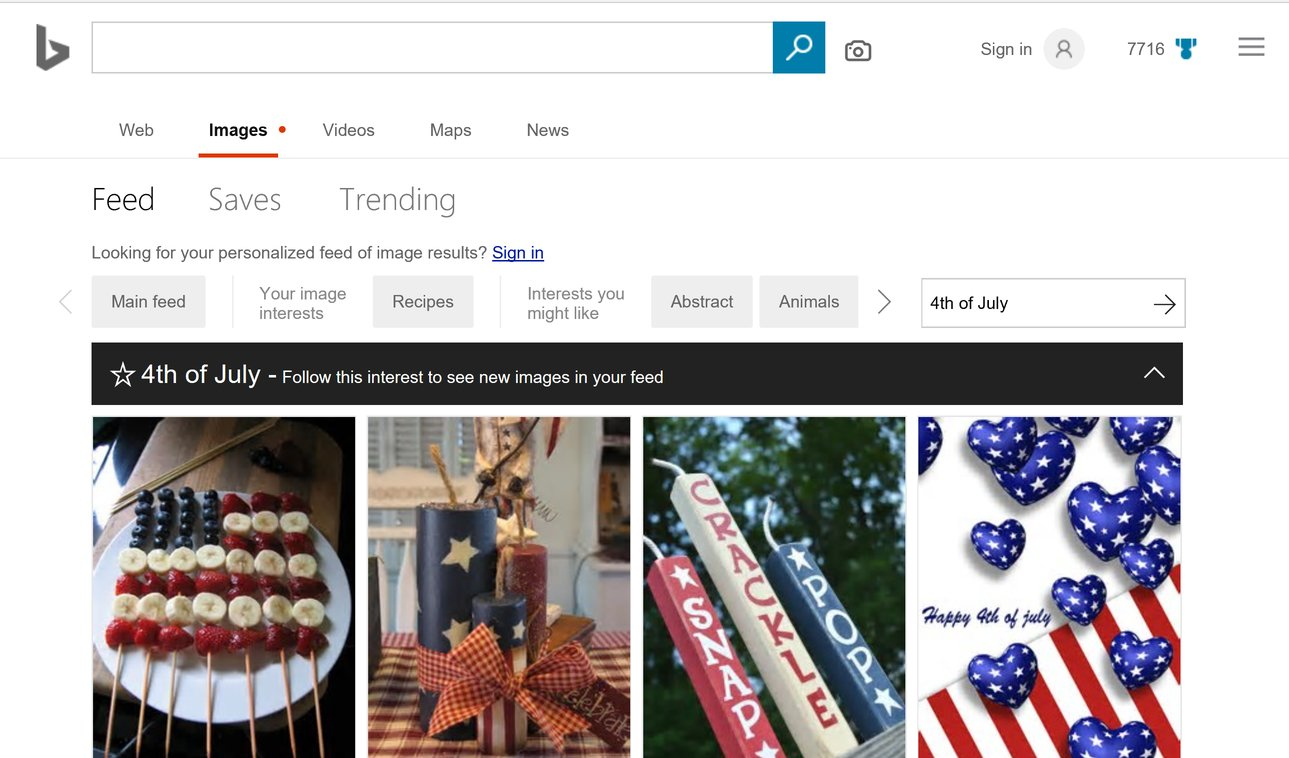 Microsoft Bing Now Offers Personalized Image Feed And