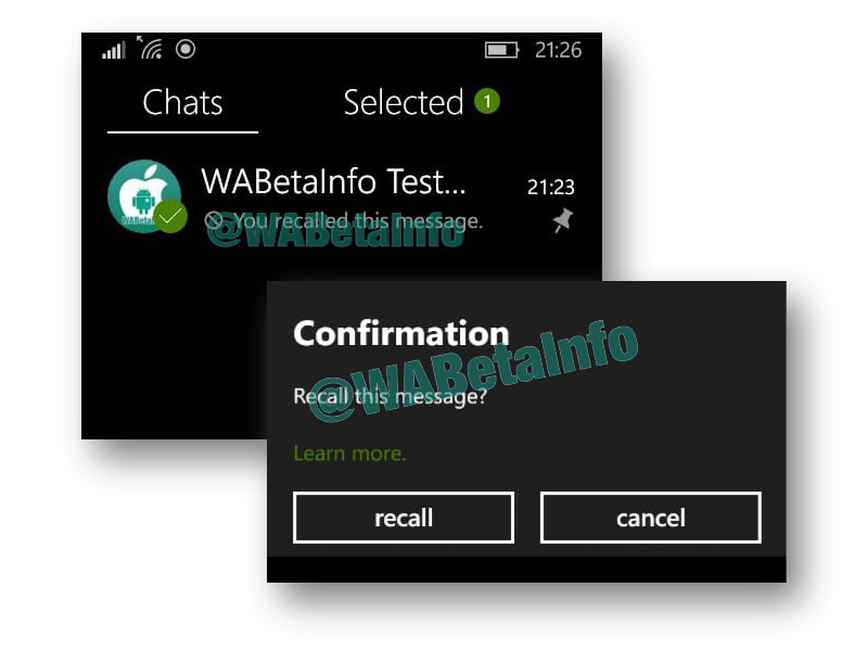 WhatsApp Beta for Windows Phone gets multi-select and recall improvements in latest update 1