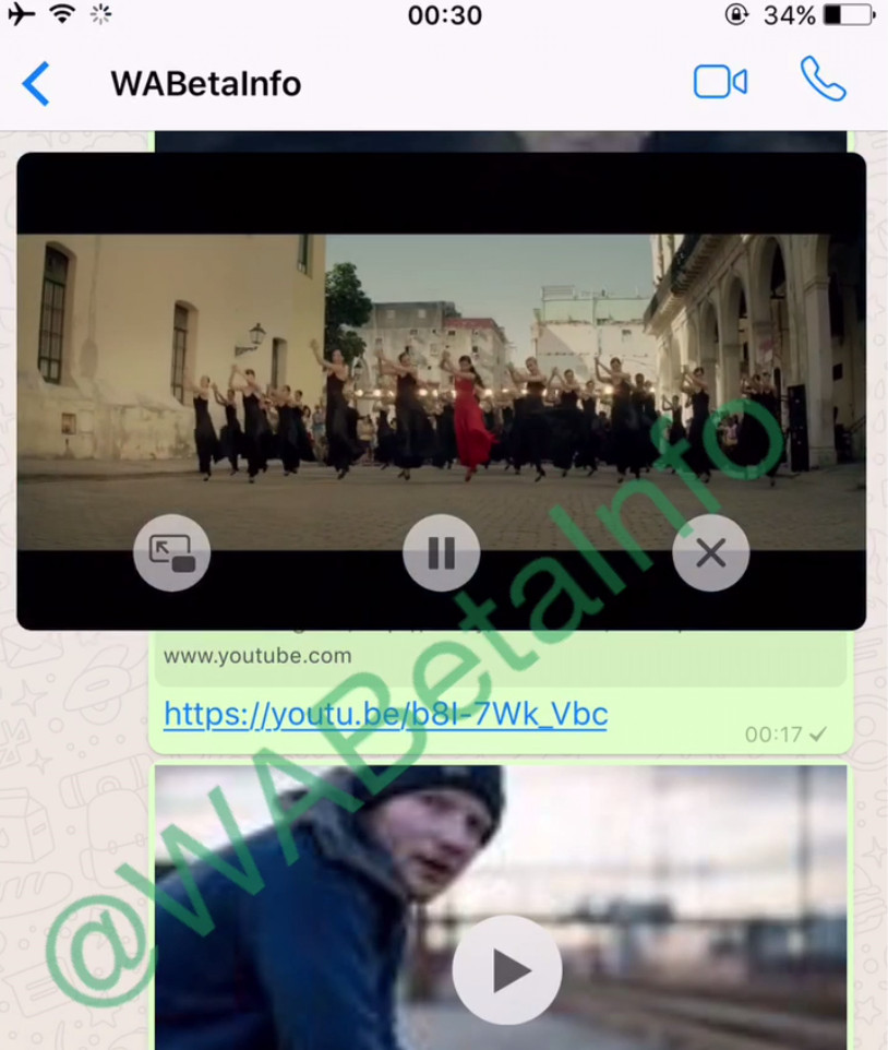WhatsApp will support YouTube in the app!