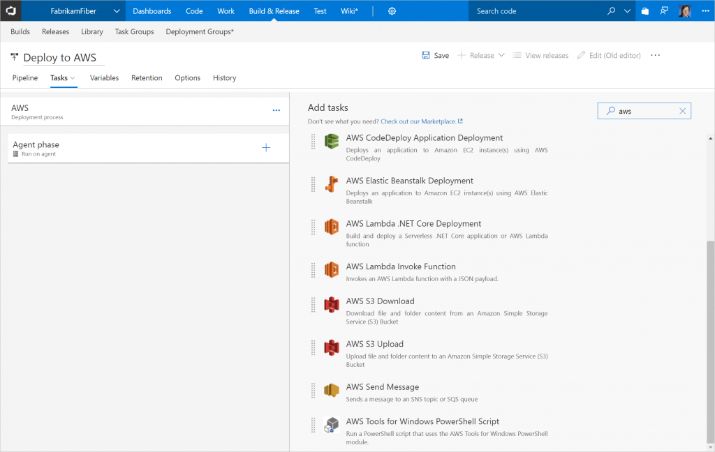 Amazon releases AWS Tools for Visual Studio Team Services