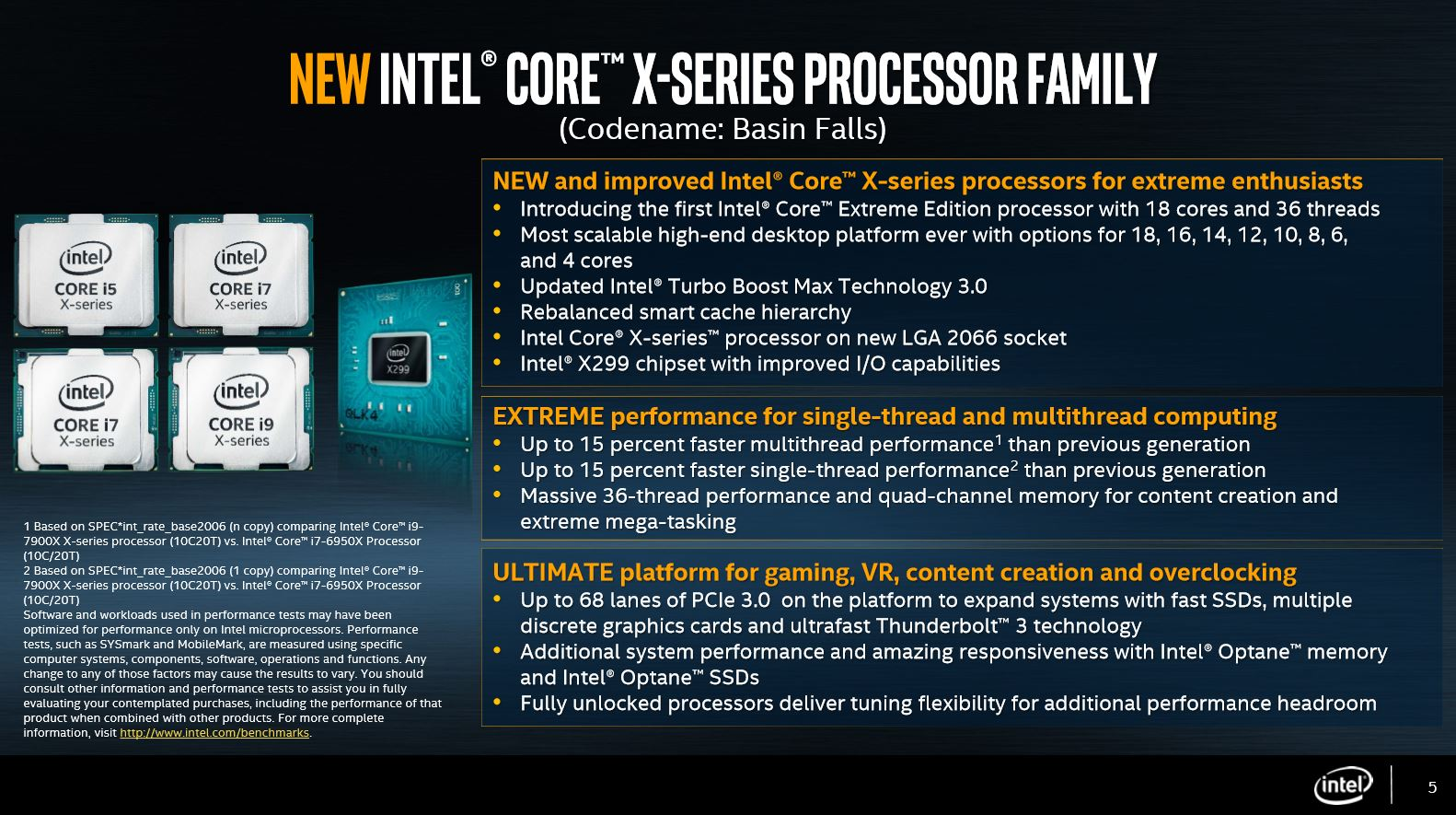 Intel releases complete specifications of its new Core X-series HEDT processors