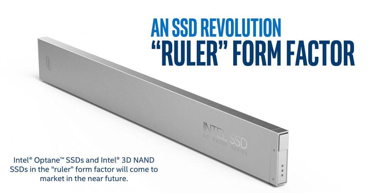 Intel unveils new 'Ruler' form factor for SSDs, supports up to 1 petabyte of storage 1