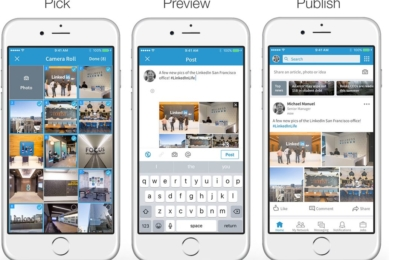 LinkedIn adds the ability to post multiple photos, share a