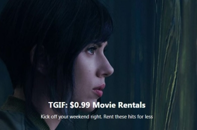Deal Alert: Rent great movies including Ghost in the Shell, La La Land and more for only $0.99 6