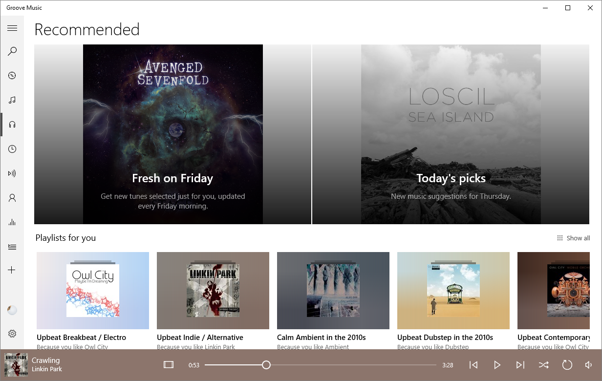 Groove Music gets spotlight rotating playlists for Insiders 1