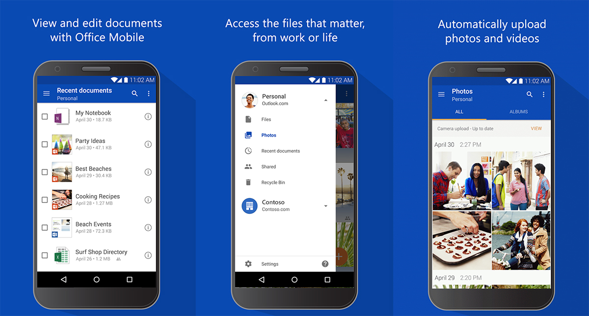 OneDrive for Android updated support for SharePoint Server