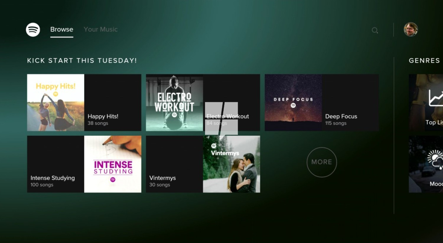 This is Spotify for the Xbox One 1