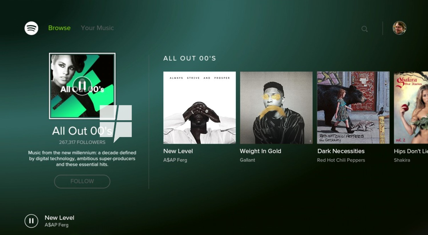 This is Spotify for the Xbox One 2