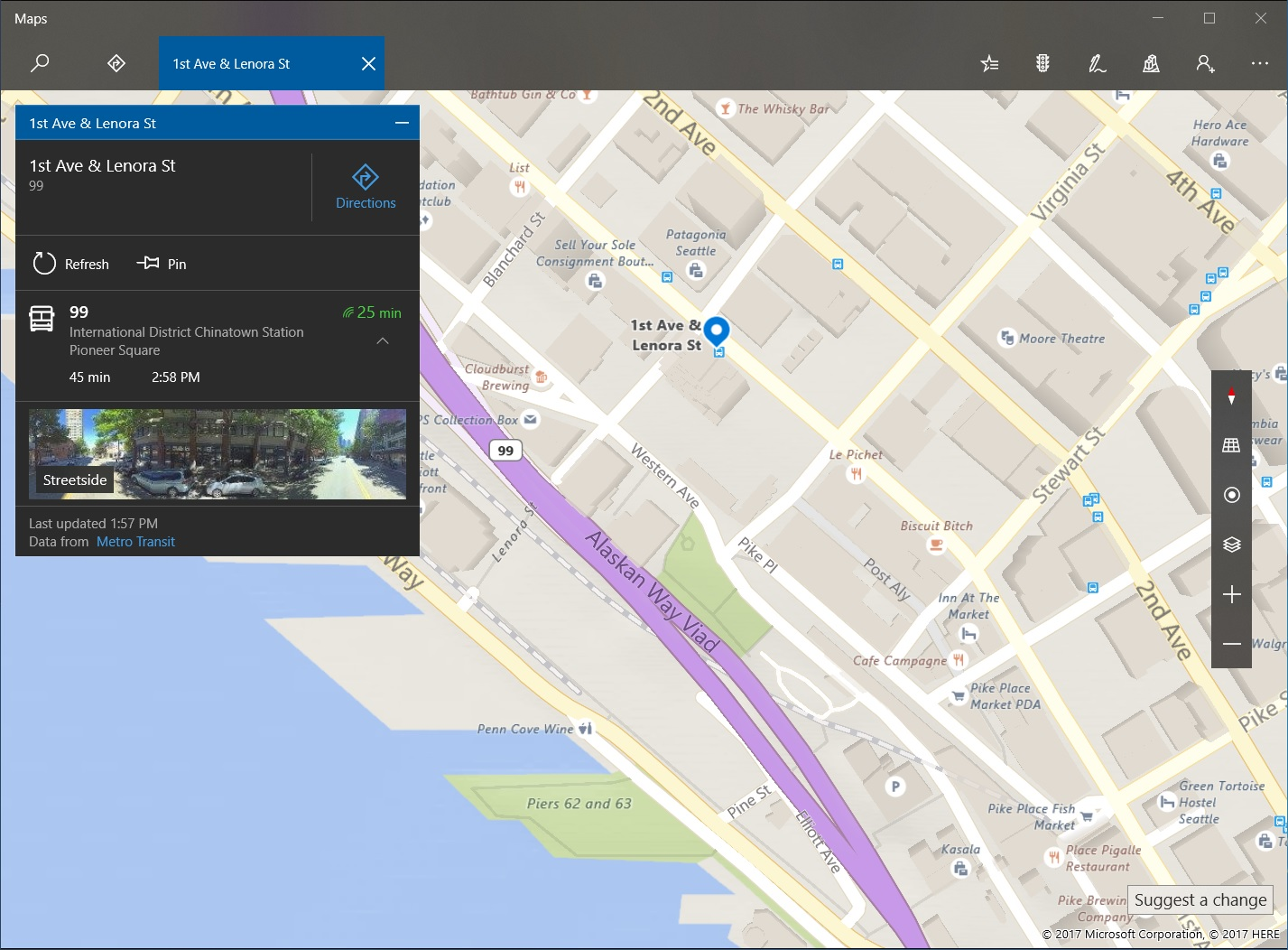 Windows Maps for Insiders updated with tappable transit stops - MSPoweruser