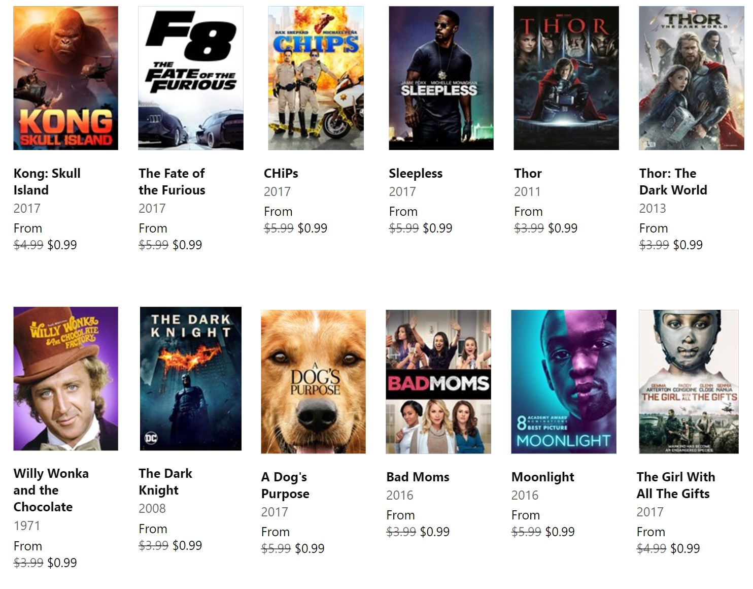 Deal Alert: Rent 2017 movies F8: Fate of the Furious, Kong: Skull Island, A Dog's Purpose and more for only $0.99 2
