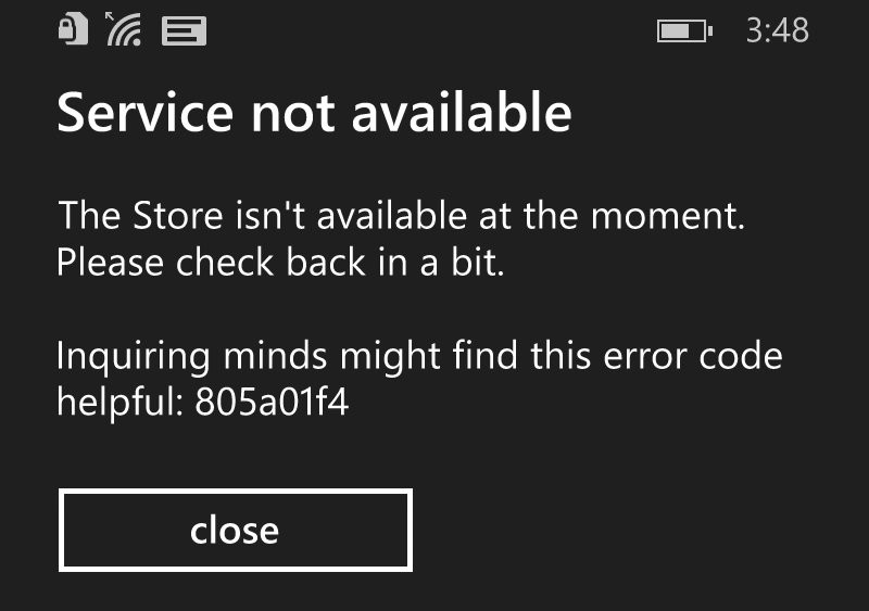 Windows Phone App Store Down For Some Users Update Fixed - Not available on the app store