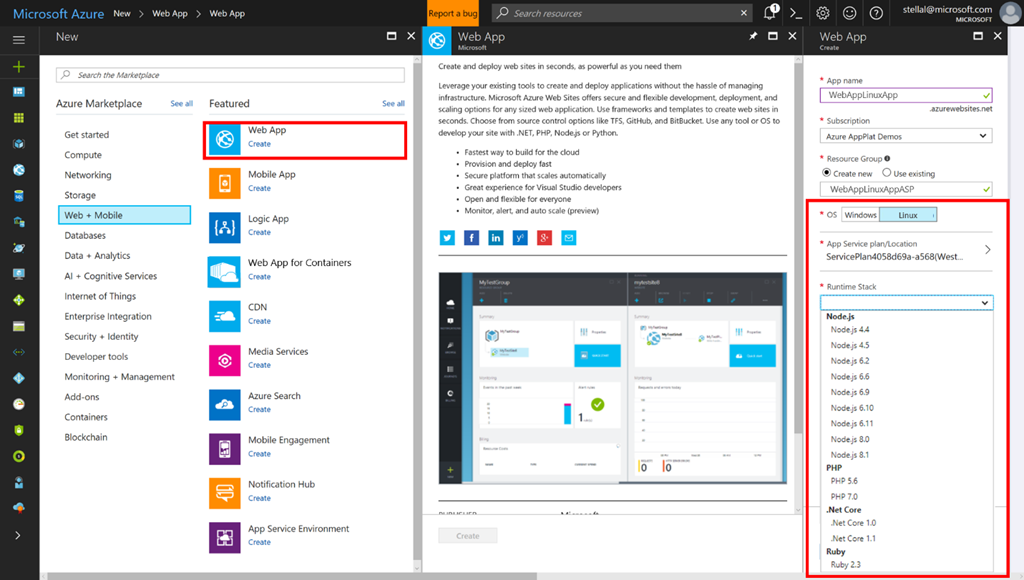 Microsoft announces general availability of Azure App Service on Linux 1