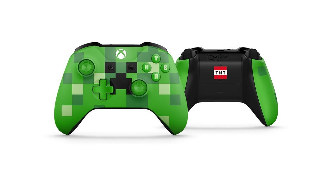 Minecraft Pig And Creeper Themed Xbox Wireless Controllers Are Now