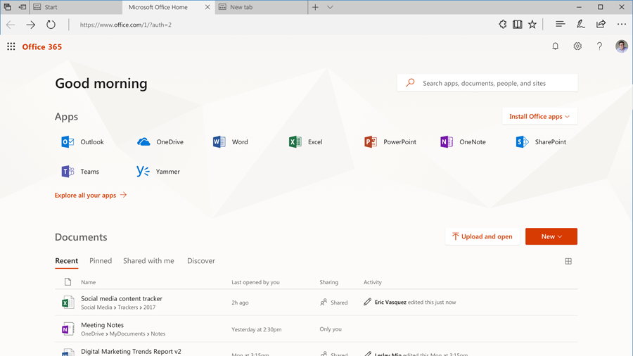 Microsoft launches redesigned Office.com experience 1