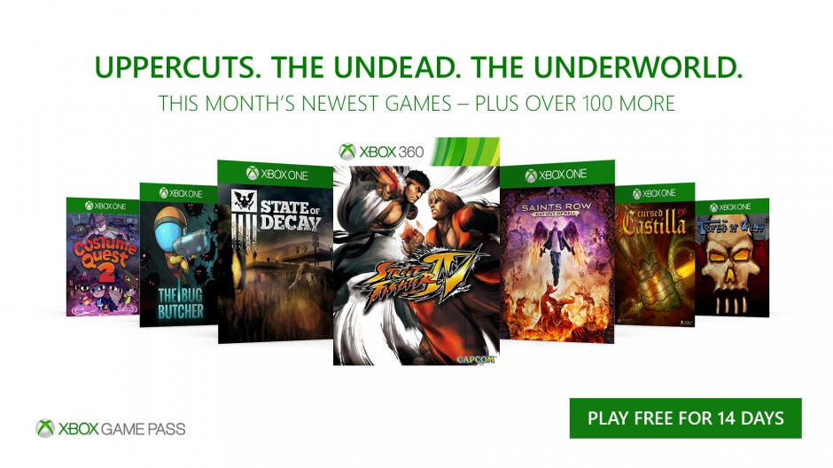 Xbox Game Pass October 2017 Games Revealed, Here's What Is Included