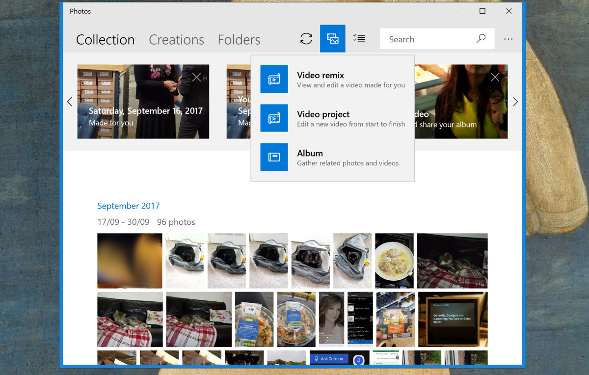 Microsoft is testing new features and animation for the Photos App 1