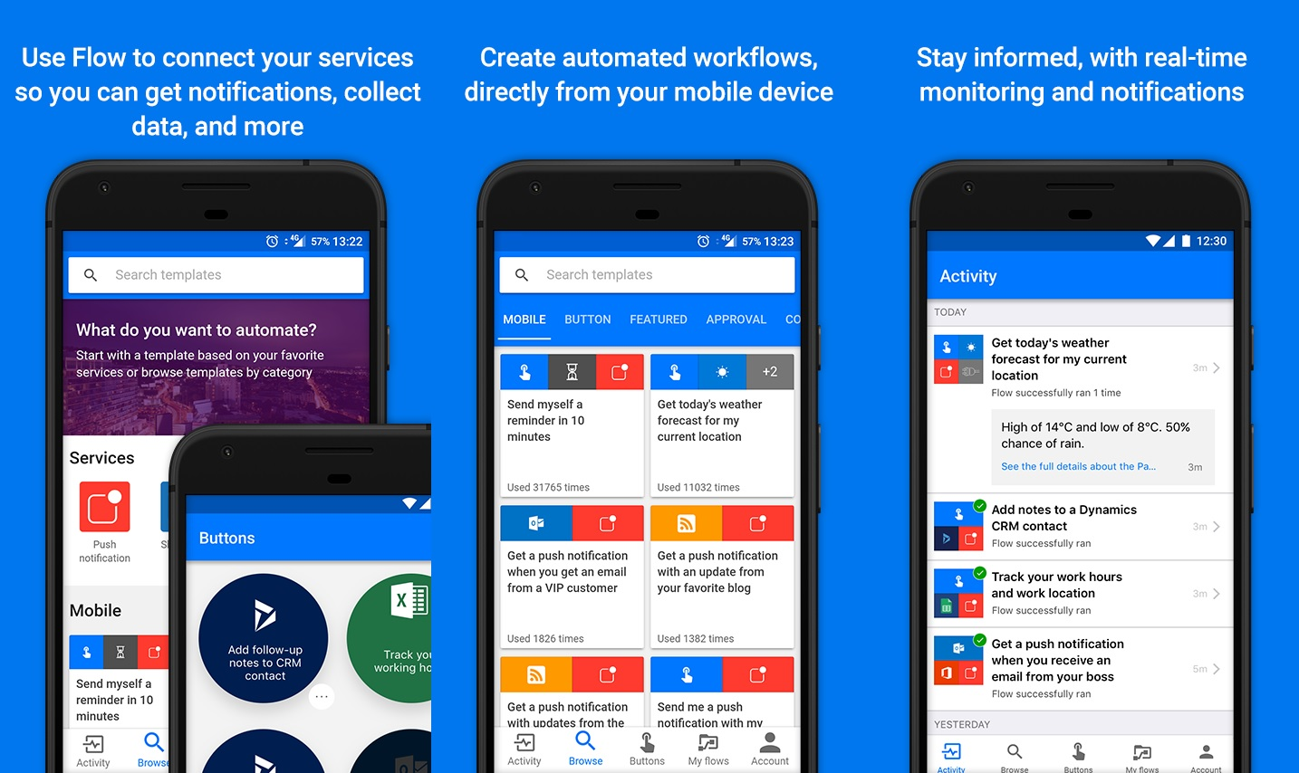 Microsoft Flow app for Android updated with many new ...