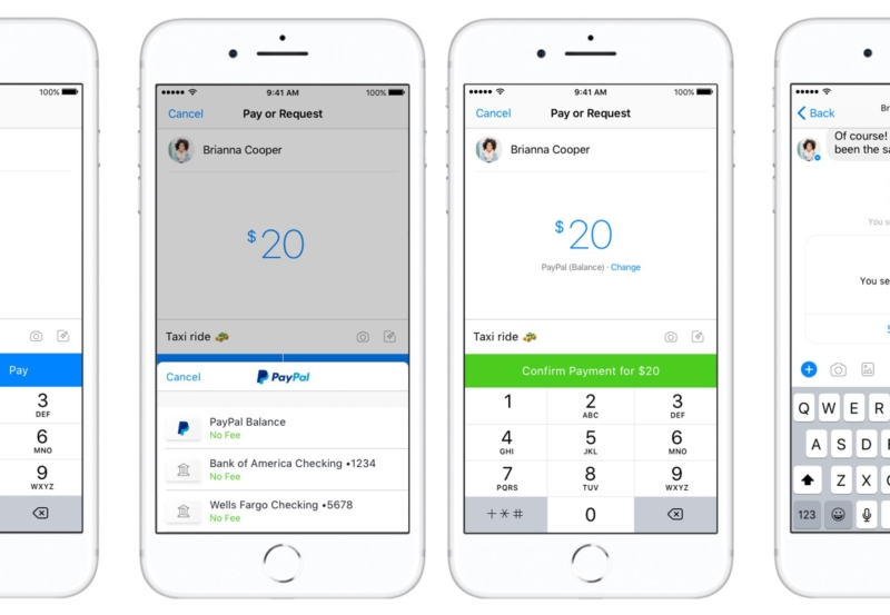 PayPal can now give you money (or take your money) through Messenger