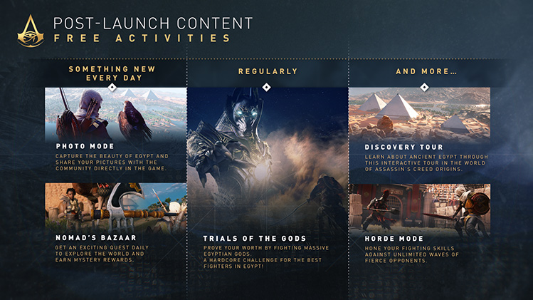 Assassin S Creed Origins Season Pass And Post Launch Content