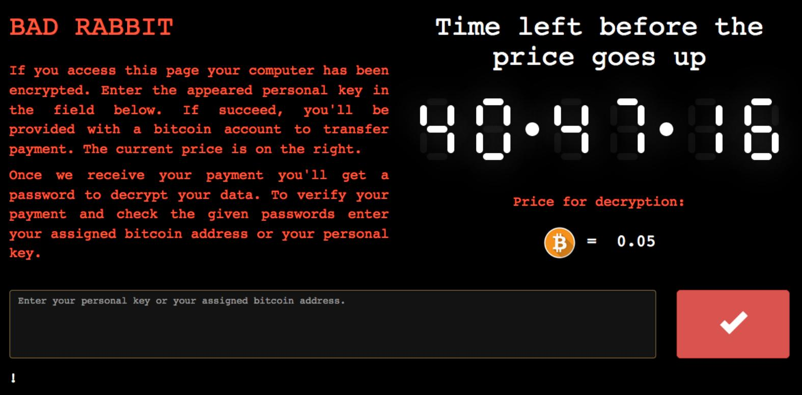 Bad Rabbit is the latest ransomware currently ravishing Russian computer networks 2