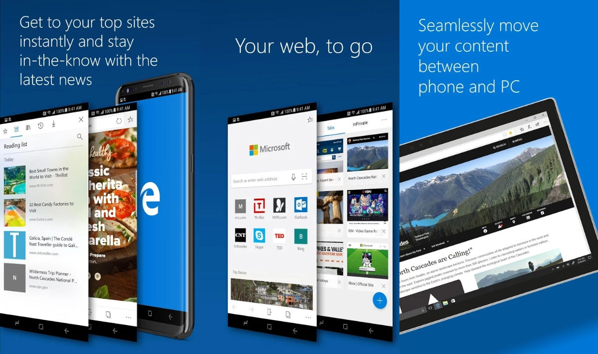 Microsoft brings Edge browser to Android, introduces Microsoft Launcher