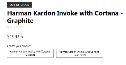 Harman Kardon's Cortana-powered Invoke shows up on the Microsoft Store