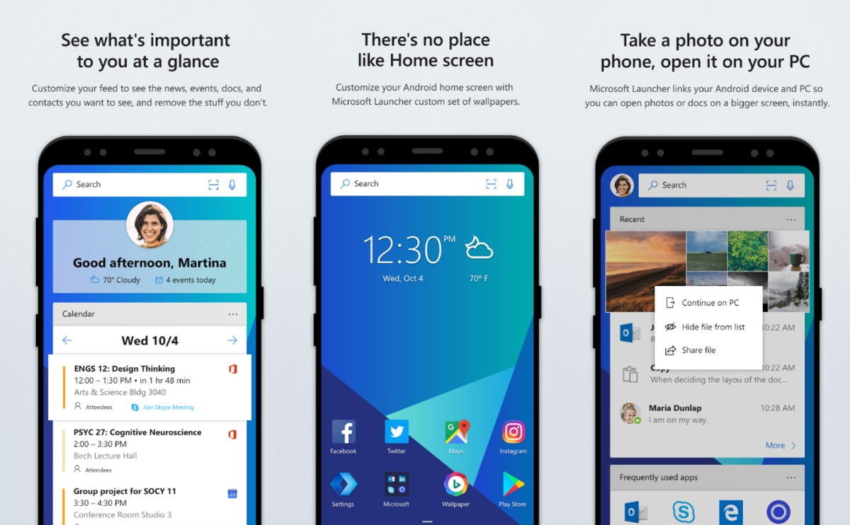 Microsoft launcher gets more customisable in version 4 5 for Wallpaper home launcher