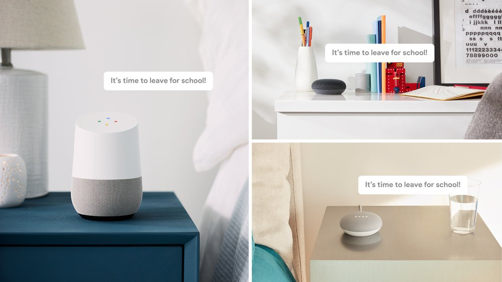 Broadcast messages to all Google Assistant-enabled speakers at home