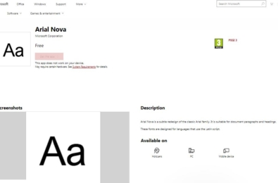 Microsoft may soon allow you to download fonts from Microsoft Store 3